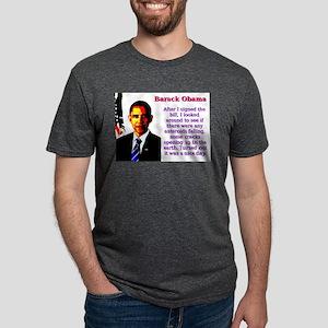 After I Signed The Bill - Barack Obama Mens Tri-bl