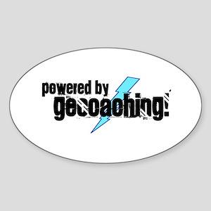 Powered By Geocaching Sticker (Oval)