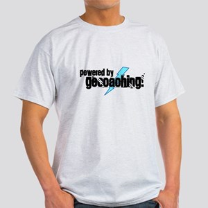 Powered By Geocaching Light T-Shirt