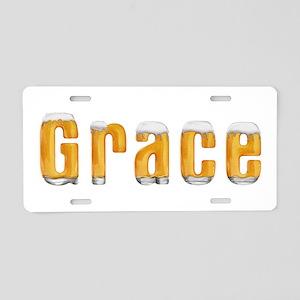 Grace Beer Aluminum License Plate