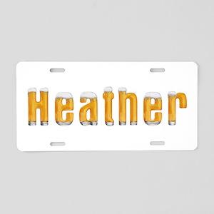 Heather Beer Aluminum License Plate