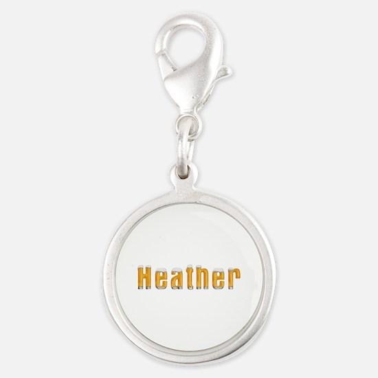 Heather Beer Silver Round Charm