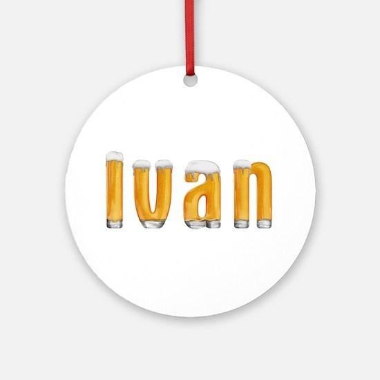 Ivan Beer Round Ornament