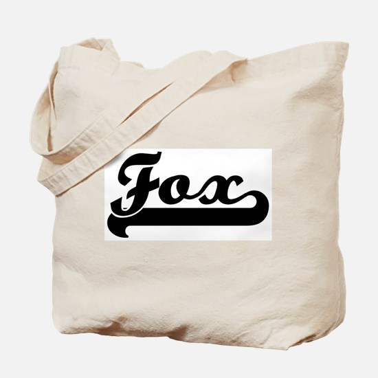 Black jersey: Fox Tote Bag