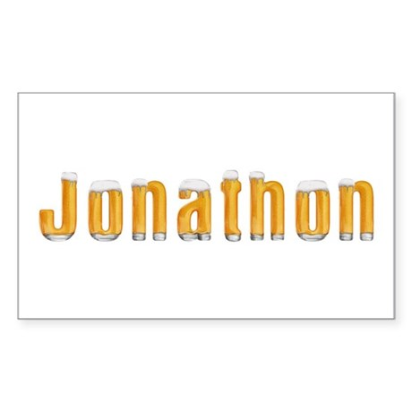 Jonathon Beer Rectangle Sticker