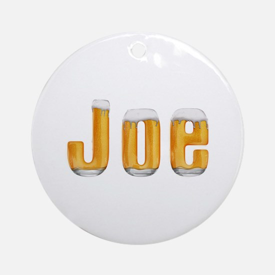Joe Beer Round Ornament
