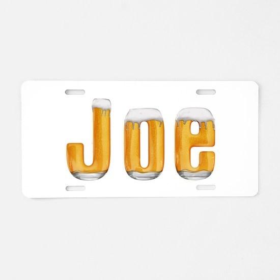 Joe Beer Aluminum License Plate