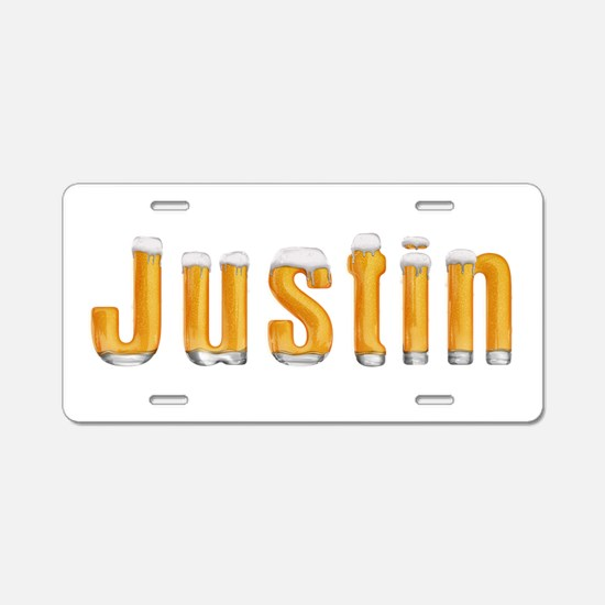 Justin Beer Aluminum License Plate