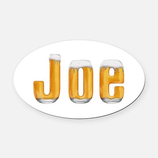 Joe Beer Oval Car Magnet