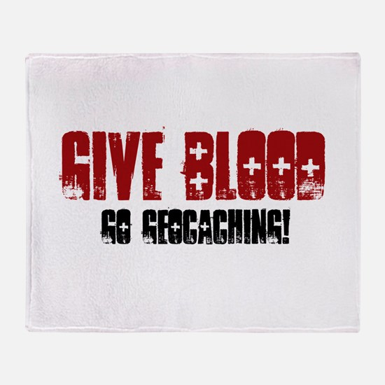 Give Blood! Throw Blanket