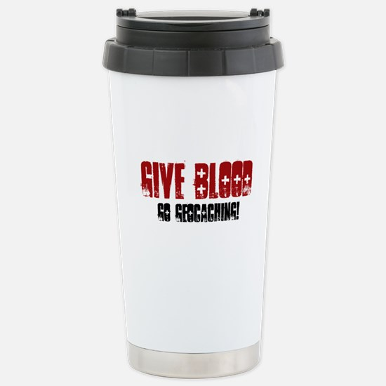 Give Blood! Stainless Steel Travel Mug