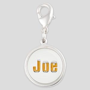 Joe Beer Silver Round Charm
