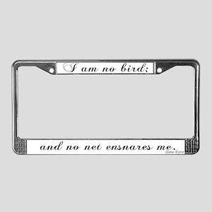 No Net Ensnares Me License Plate Frame