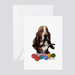 Basset Hound Christmas Holiday Greeting Cards (Pac