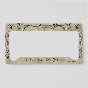 Jane Eyre Scorn Your Idea Of Love License Plate Ho