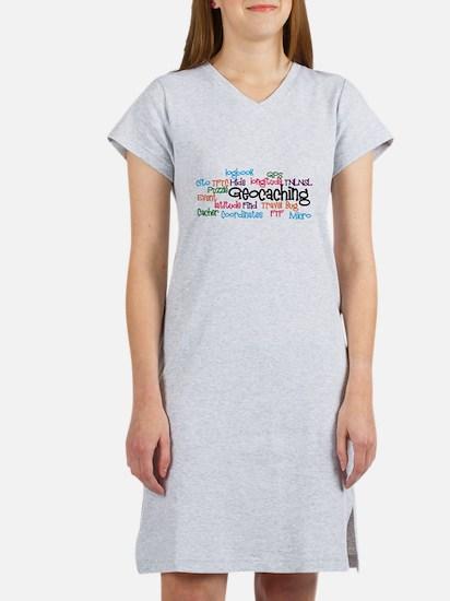 Geocaching Collage Women's Nightshirt