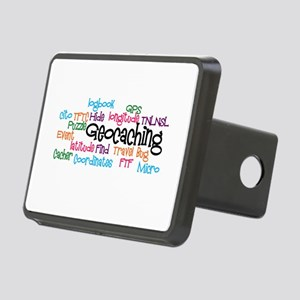 Geocaching Collage Rectangular Hitch Cover