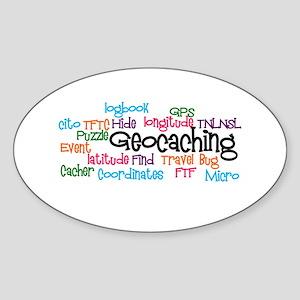 Geocaching Collage Sticker (Oval)
