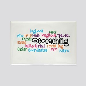 Geocaching Collage Rectangle Magnet