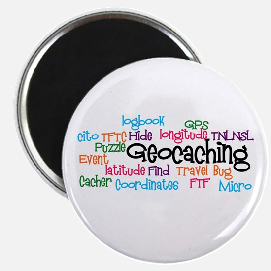"""Geocaching Collage 2.25"""" Magnet (100 pack)"""