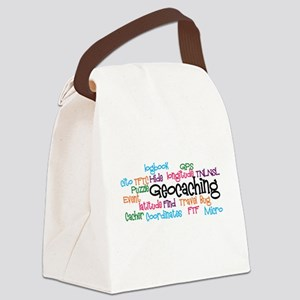 Geocaching Collage Canvas Lunch Bag