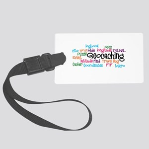 Geocaching Collage Large Luggage Tag