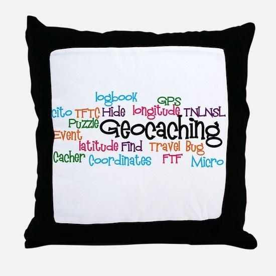 Geocaching Collage Throw Pillow