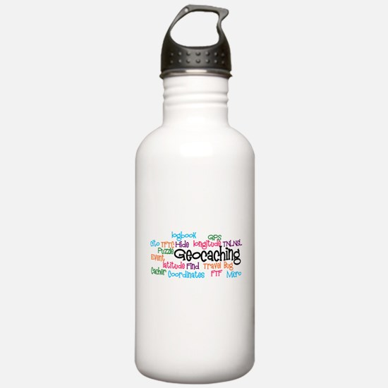 Geocaching Collage Water Bottle