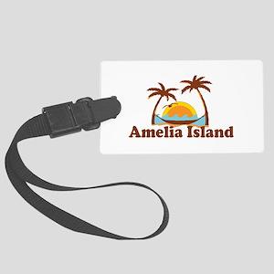 Amelia Island - Palm Trees Design. Large Luggage T