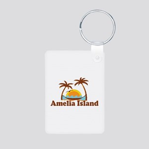 Amelia Island - Palm Trees Design. Aluminum Photo