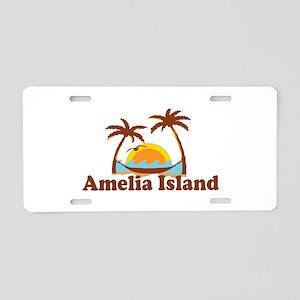 Amelia Island - Palm Trees Design. Aluminum Licens