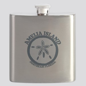 Amelia Island - Sand Dollar Design. Flask