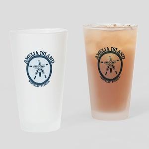 Amelia Island - Sand Dollar Design. Drinking Glass