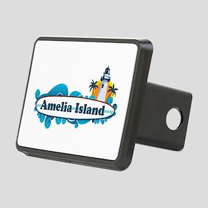 Amelia Island - Surf Design. Rectangular Hitch Cov