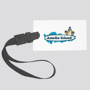 Amelia Island - Surf Design. Large Luggage Tag