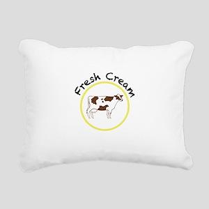 Fresh Cream with Black and Yellow Rectangular Canv