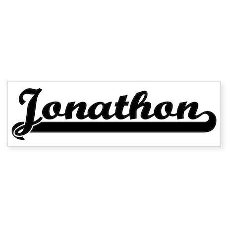 Black jersey: Jonathon Bumper Sticker