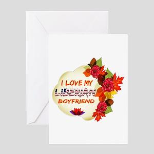 Liberian Boyfriend designs Greeting Card