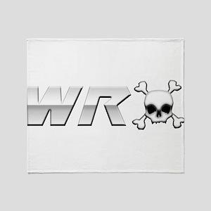 WRX Skull Throw Blanket