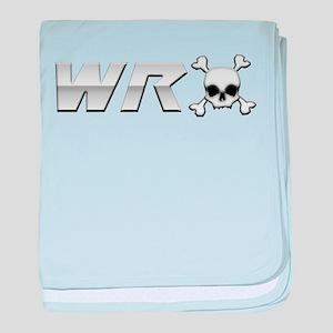 WRX Skull baby blanket
