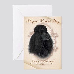 Funny Poodle Mom's Day Card