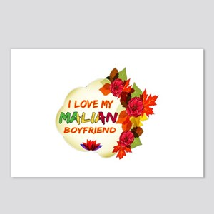 Malian Boyfriend designs Postcards (Package of 8)