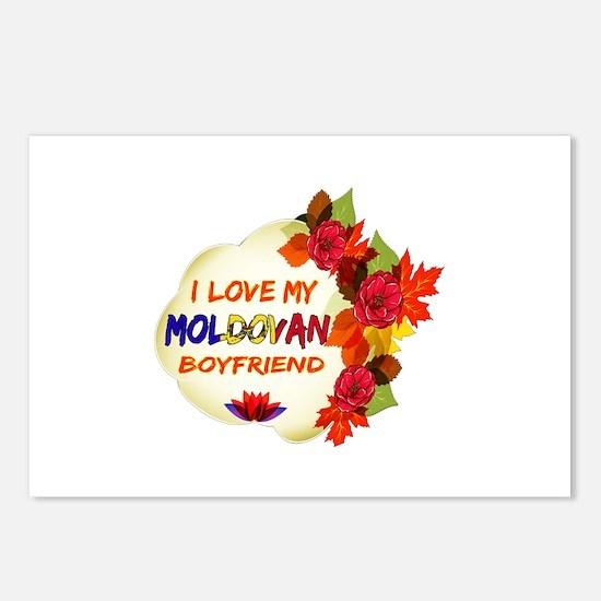 Moldovan Boyfriend designs Postcards (Package of 8