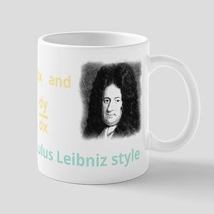 Calculus Leibniz style (dark background) Mug