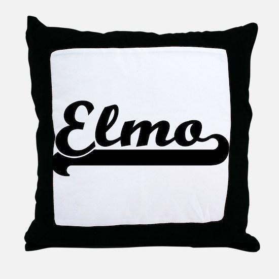 Black jersey: Elmo Throw Pillow