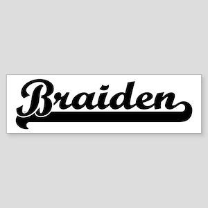 Black jersey: Braiden Bumper Sticker