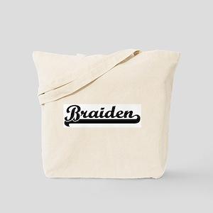 Black jersey: Braiden Tote Bag