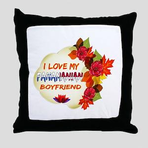 Panamanian Boyfriend designs Throw Pillow