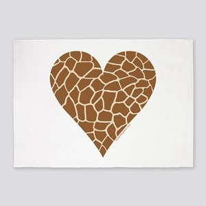 I Love Giraffes 5'x7'Area Rug