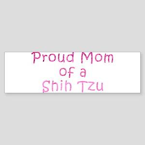 Proud Mom of a Shih Tzu Sticker (Bumper)